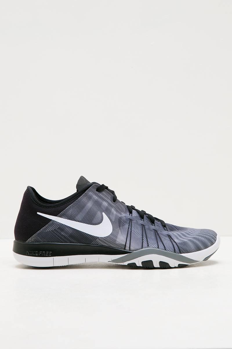 Sell womens nike free 6 print training shoe black white cool grey sneakers berrybenka com