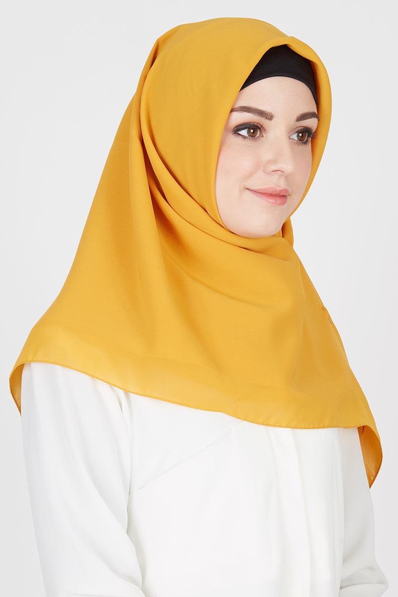 Sell Jilbab Segi Empat Mustard Hijab Essential Hijabenka Com