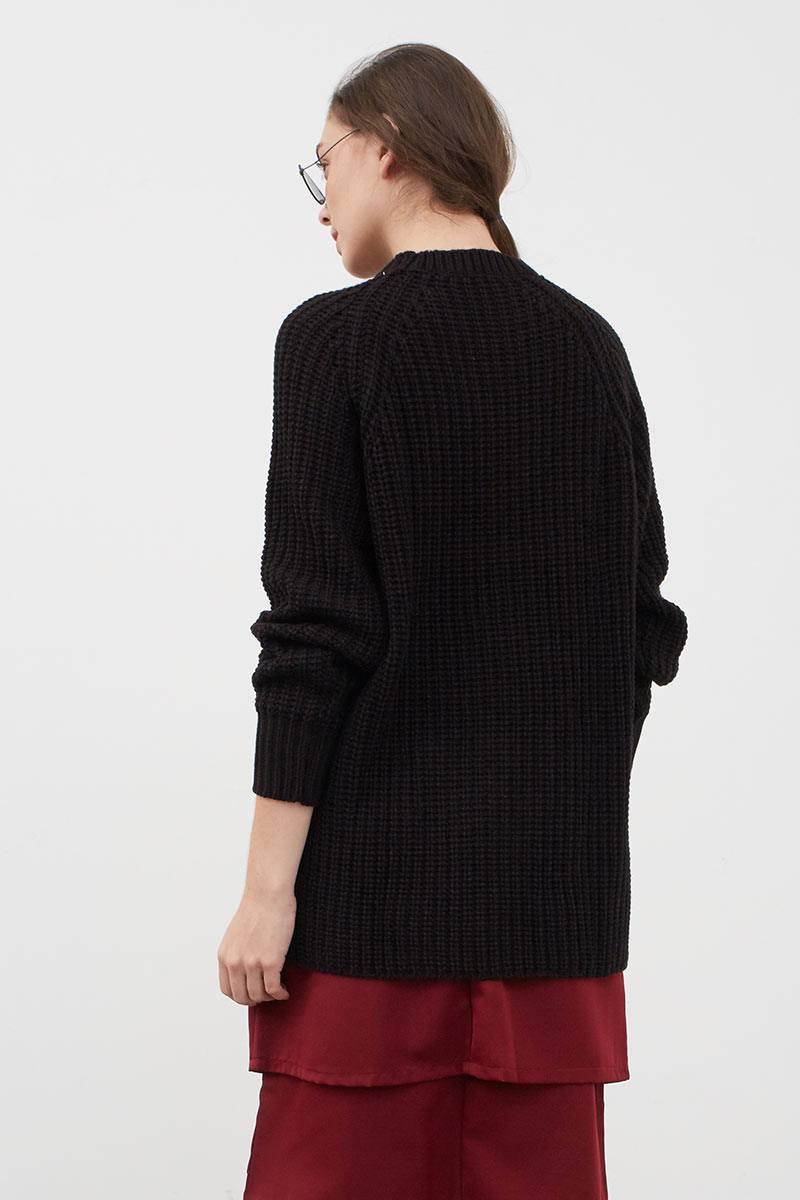 Sell Gyli Oversized Sweater Black Sweaters | Berrybenka.com