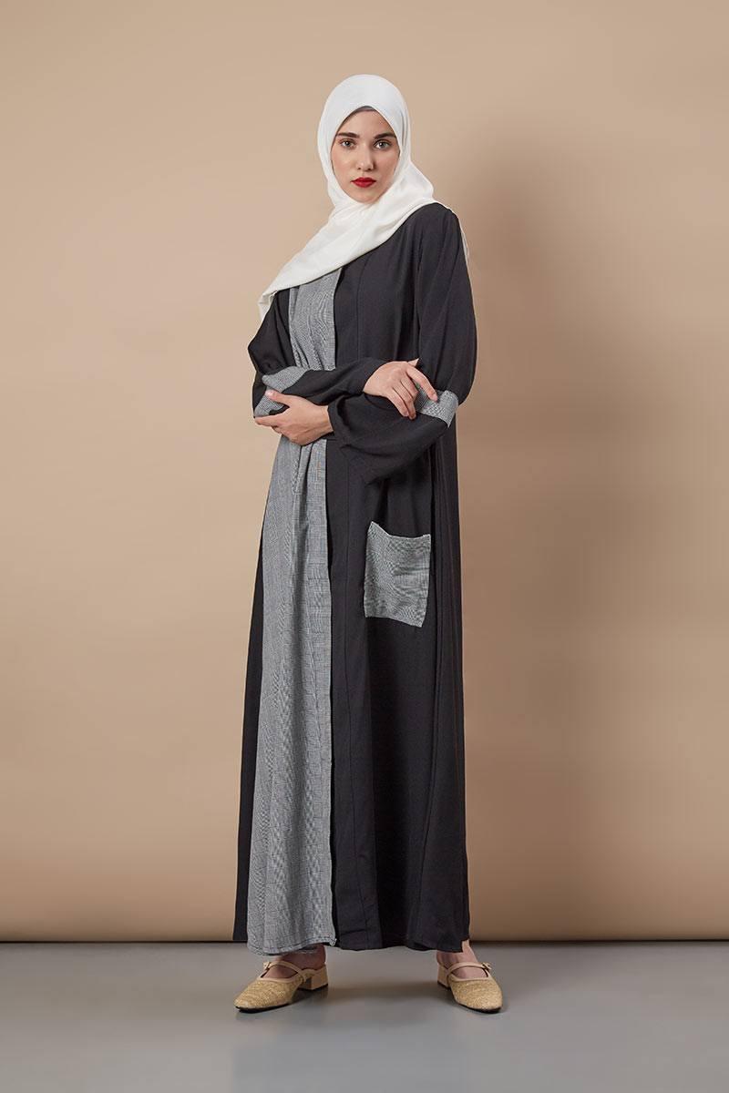 Sell Indira Abaya Grey Exclusive Collections Hijabenka Com