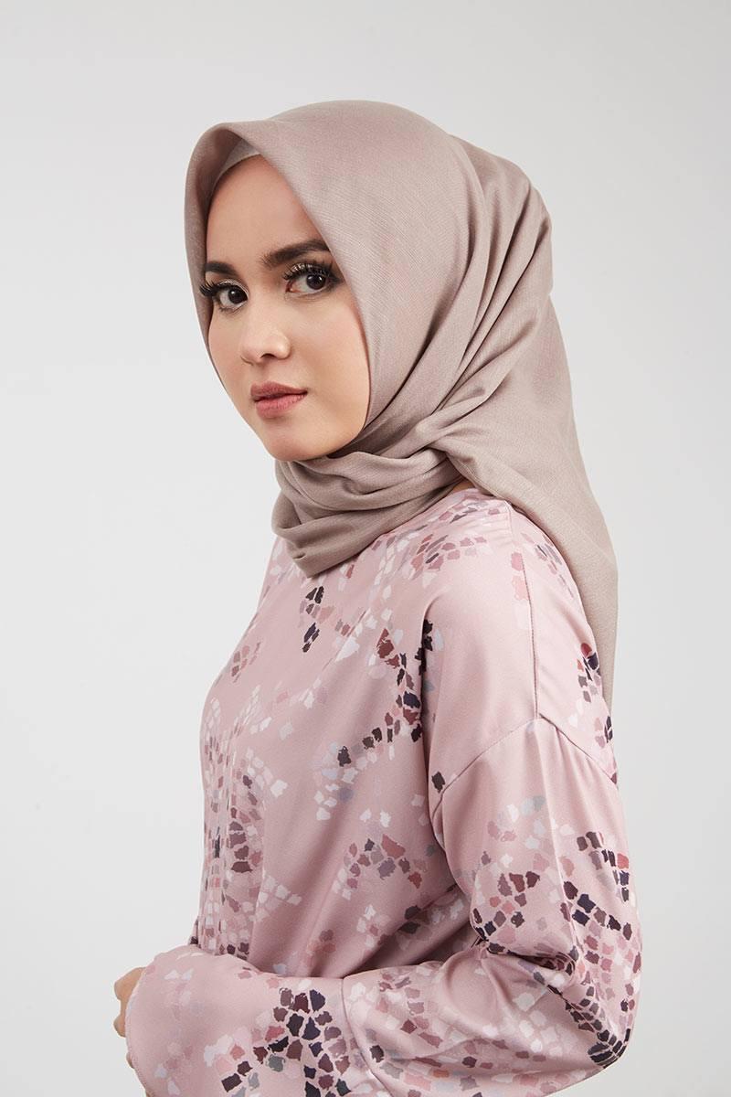 Hijab Bahan Voal Polos 98