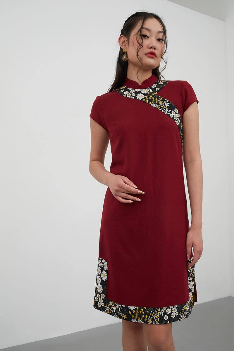 a9dde72e1 Sell Nao Flower Loose Cheongsam Red Midi-dresses | Berrybenka.com