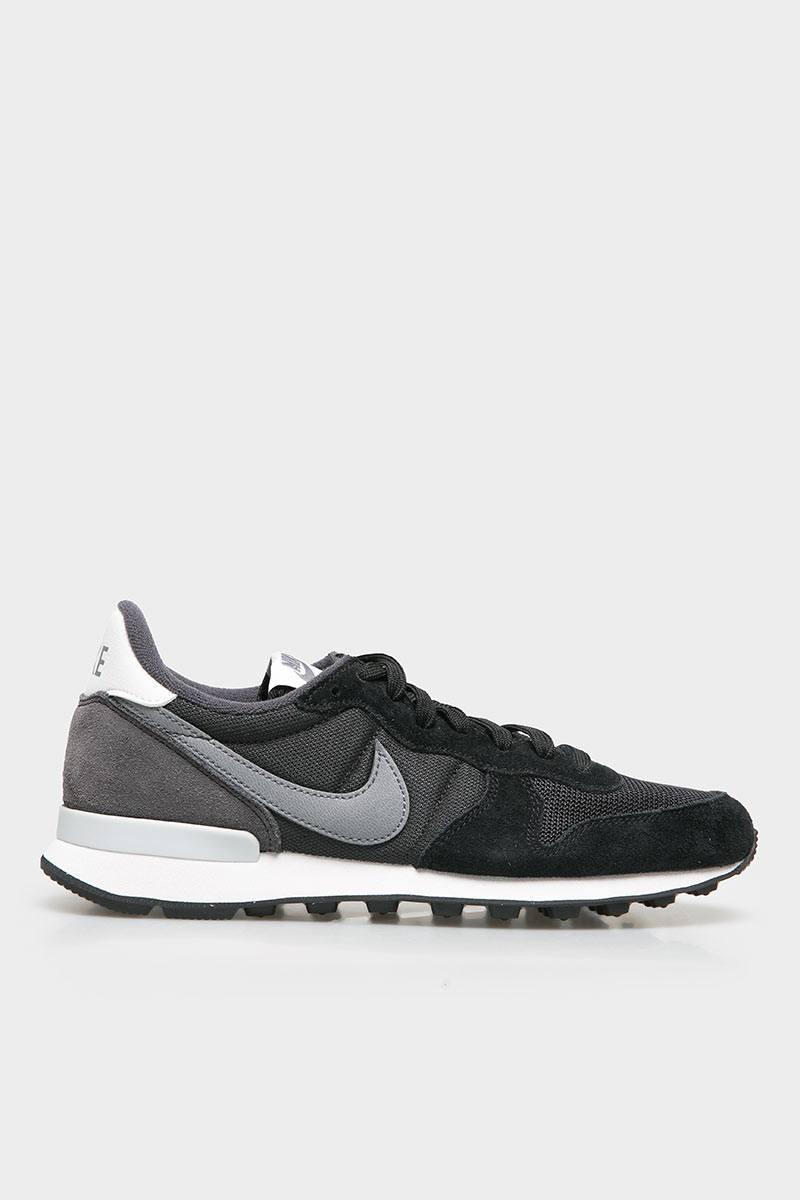 Sell Womens Nike Internationalist Black Grey Platinum Sneakers ...